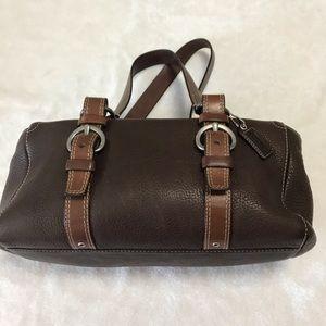 COACH Chelsea brown pebbles leather Sachel bag